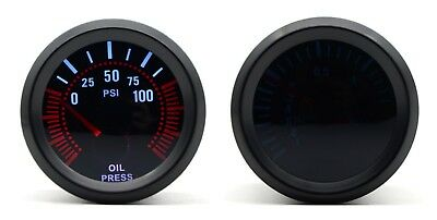 52mm AGG-1 Smoked Oil Pressure Gauge 100psi & 1/8npt Sender