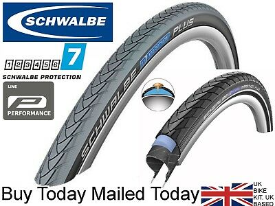 Schwalbe Marathon Plus / Downtown Black / Grey 24 x 1 3/8 37-540 WheelChair Tyre