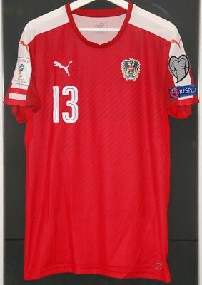 various colors 1ead1 6981c MATCH WORN SHIRT Austria National Team World Cup 2018 Jersey Germany England