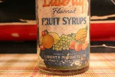 "Newfoundland St. John's Rum Bottle - ""liberty"" Strawberry Flavored Fruit Syrup"