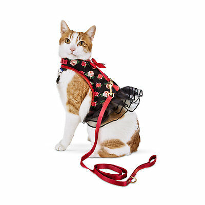 Bond & Co. Pink Rose-Print Cat Harness and Leash Set