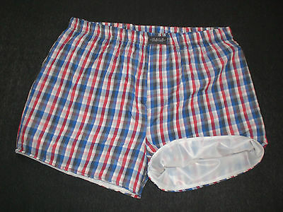 NEU PVC & COTTON DOPPEL BOXERSHORTS SHORTS & INNEN PVC 20my PANTS  XL-XXL