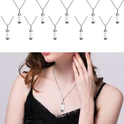 10PCs Stainless Steel Silver Cylinder Bead DIY Pendant Jewelry Accessories GW