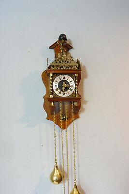 Dutch Clock Wall Clock Warmink Clock in Nutwood Old Clock