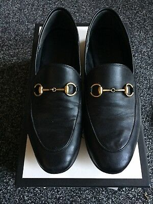 7c8b9fd4be0 GUCCI BRIXTON BLACK Convertible Loafer Leather Flats Size EU 39 US 9 ...