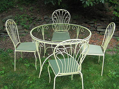 Vintage Salterini  Art Nouveau Style Five Piece Patio Set