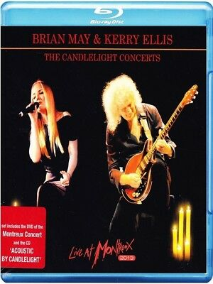 Brian May&kerry Ellis -The Candlelight Concerts: Montreux 2013 2 Blu-Ray+Cd Neu