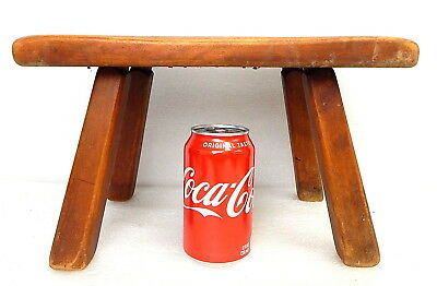 Rustic Maple Foot Milking Stool Antique Cushman Colonial Vermont Dutch Mission