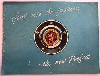 Super Rare Vintage Ford Motor Company Prefect Promotional Sales Brochure 1950s