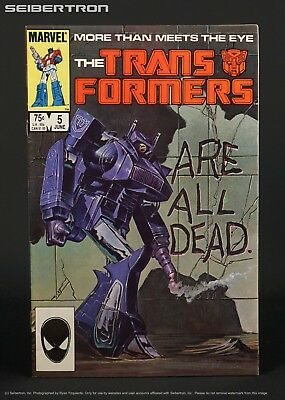 THE TRANSFORMERS #5 1985 Marvel Comics G1 181101a Shockwave cover