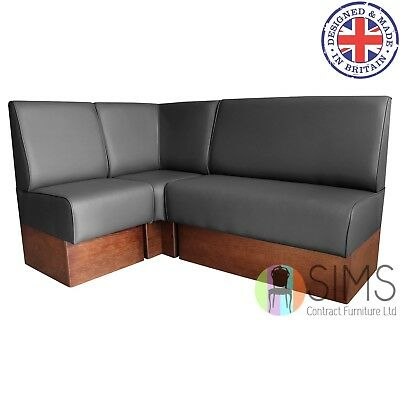Modular Plain Back Banquette Fitted Bench Booth Seating - Diner, Restaurant, Bar
