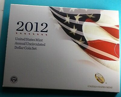 2012 U.S. Annual Uncirculated Dollar Coin Set W/Silver Eagle Incl.
