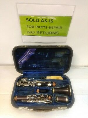 EMIL JARDIN WOOD CLARINET PARIS FRANCE 1940s Vintage