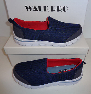 Ladies Trainers New Womens Go Walk Pro Navy Red Memory Foam Shoes Sizes 3 & 4