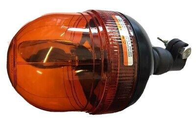 Amber Din Pole Mount Halogen Rotating Recovery Beacon 12/24 Volts Maypole Mp4083