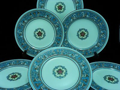 Wedgwood China FLORENTINE-TURQUOISE {Fruit Center} Salad Plates ~ 8 Available