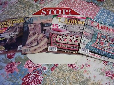 The Quilter Magazine's Lot Of 4 Feb/mar, Apr/may 12 - Quilt World Aug 87. Quilts