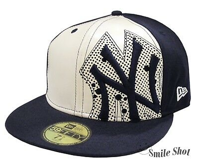a935d00c740502 NEW ERA 59FIFTY MLB NY Yankees Fitted Cap Navy Off White Size 7 7/8 ...