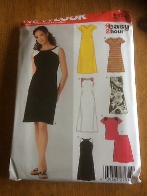 NEW LOOK EASY Knit Dress tops paper sewing pattern.New & Uncut 6374 ...