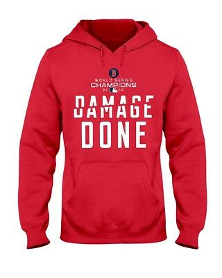 Boston Red Sox World Series Champions 2018 Damage Done Hoodie Sweatshirt