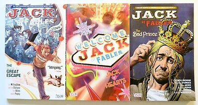 Jack of Fables Vol. 1 2 & 3 NEW Vertigo Graphic Novel Comic Book