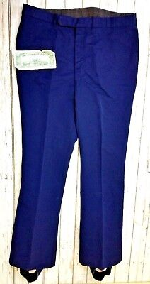 OTHMAR SCHNEIDER SEARS ROBUCK AND CO. Unisex SZ 36R Ski Pants Navy Blue VTG 70's