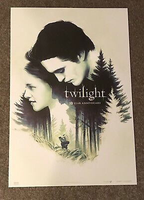 """2018 Fathom Events Twilight 10th Year Anniversary Exclusive Poster, 13""""X19"""" NEW"""