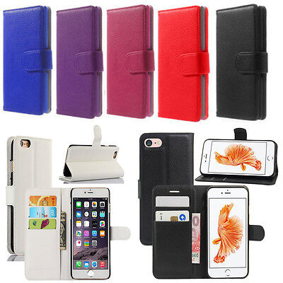 Case For iPhone 6 7 8 5S SE Plus XS Cover Luxury Leather Wallet Magnetic
