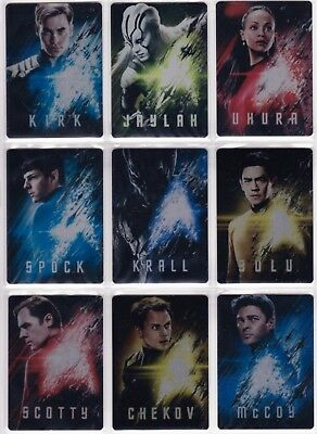 Star Trek Beyond Movie 2017, Complete Metal Poster Card set MC1-9