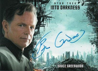Star Trek Beyond Movie 2017, Bruce Greenwood 'Pike' Autograph Card