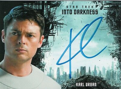 Star Trek Beyond Movie 2017, Karl Urban 'Bones' Autograph Card