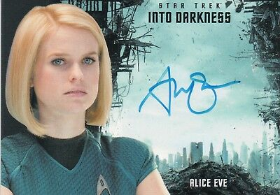 Star Trek Beyond Movie 2017, Alice Eves 'Carol Marcus' Autograph Card