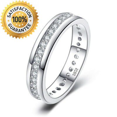 JewelryPalace Cubic Zirconia Anniversary Channel Set Wedding Band Eternity...