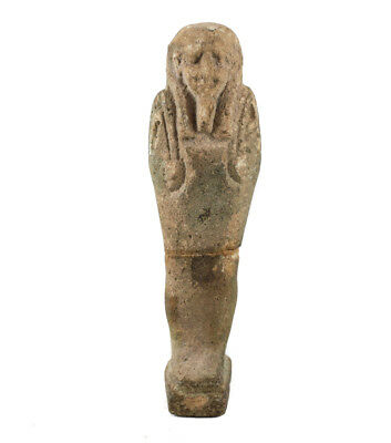 Archaic Egyptian Faience Pottery Shabti figure, Late Period?  Green