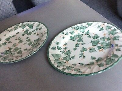 """BHS Country Vine Tableware two Dinner plates 10 1/2"""""""