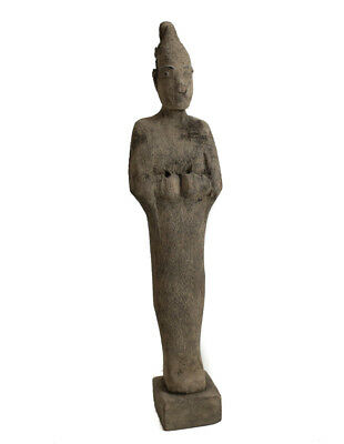 Archaic Egyptian Painted wood Osiris figure