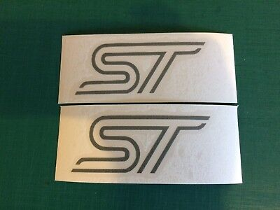 ST Ford x3 100mm  Sticker Decal Zetec Fiesta Focus Window Bumper sticker