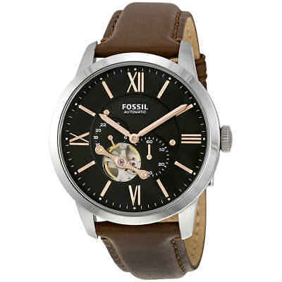 Fossil Townsman Mechanical Black Dial Brown Leather Men's Watch ME3061