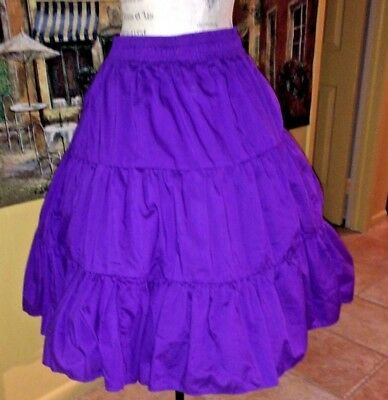 Vintage Rockabilly Deep Purple     Full Circle  Square Dancing Skirt   L