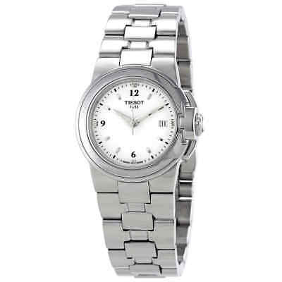 Tissot T-Sport White Dial Stainless Steel Ladies Watch T0802101101700
