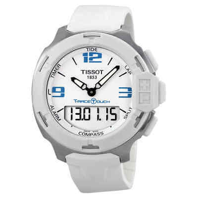 Tissot T-Race Touch White Analog Digital Dial White Synthetic Strap Unisex Watch