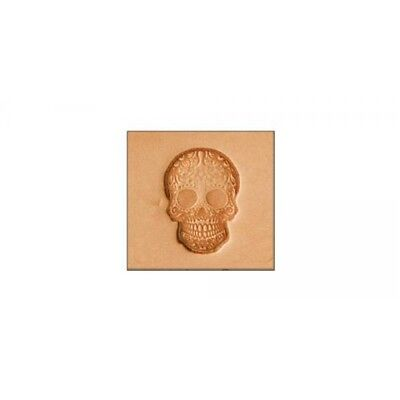 """3d Sugar Skull Stamping Tool - 5/8"""" X 7/8"""". - Craf 2d Leather Stamp 869300"""