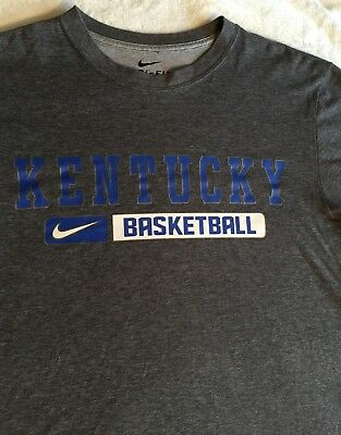 7a92cdba74697 Nike Dri-Fit Kentucky Wildcats NCAA Basketball Adult T-Shirt Size Small Gray