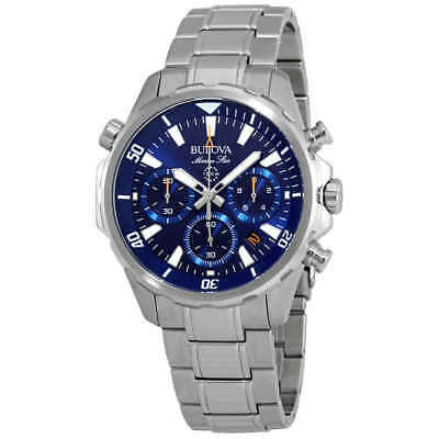 Bulova Marine Star Chronograph Blue Dial Men's Watch 96B256