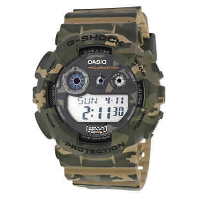 Casio G Shock Classic Brown Camouflage Resin Men's Watch GD120CM-5CR