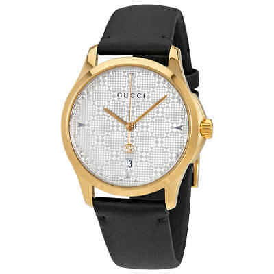 8fcb2f9c45c NEW GUCCI G-TIMELESS Silver Dial Stainless Steel Bracelet YA126401 ...