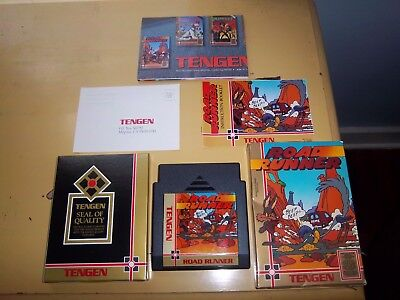 Road Runner (Nintendo, 1989) NES COMPLETE CIB with Poster Manual Box  *TENGEN*