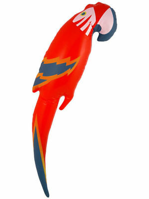 Inflatable Parrot Blow Up Red Parrot Beach Party Pirate Novelty Party Toy 48 cm