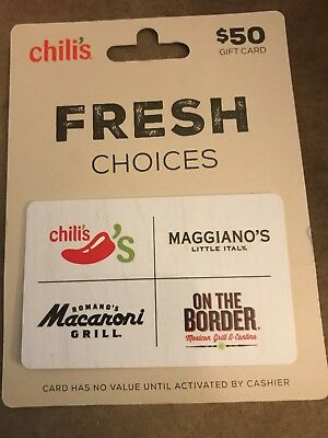 picture relating to Maggiano's Printable Coupon $15 Off $45 identify MACARONI GRILL $50 Present Card Employ at Chilis, Upon The