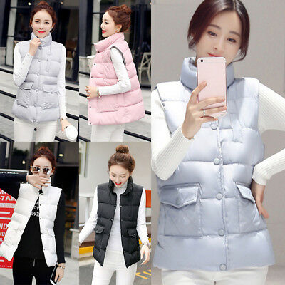Women New Slim Casual Sleeveless Winter Warm Vest Coat Tops Cotton Jacket